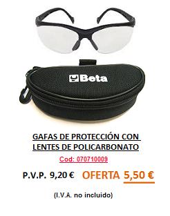 GAFAS PROTECCIÓN TRANSPARENTES
